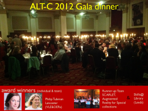 ALT-C Gala dinner