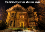The haunted university
